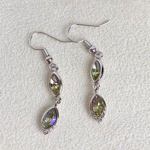 New Swarovski® Crystal 2 Tier Drop Dangle Earrings